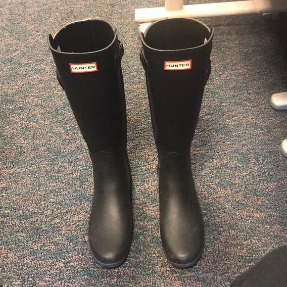 a9fc9418914 Hunter Boots original refined tall black